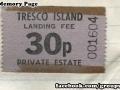 1970s Landing Fee for Tresco