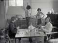 1976, Inside the old school building at Carn Thomas, St Mary's.