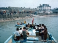 1976, Floating concert by Dorset Brass Quire, on Golden Spray. Hugh Town, St Mary's.