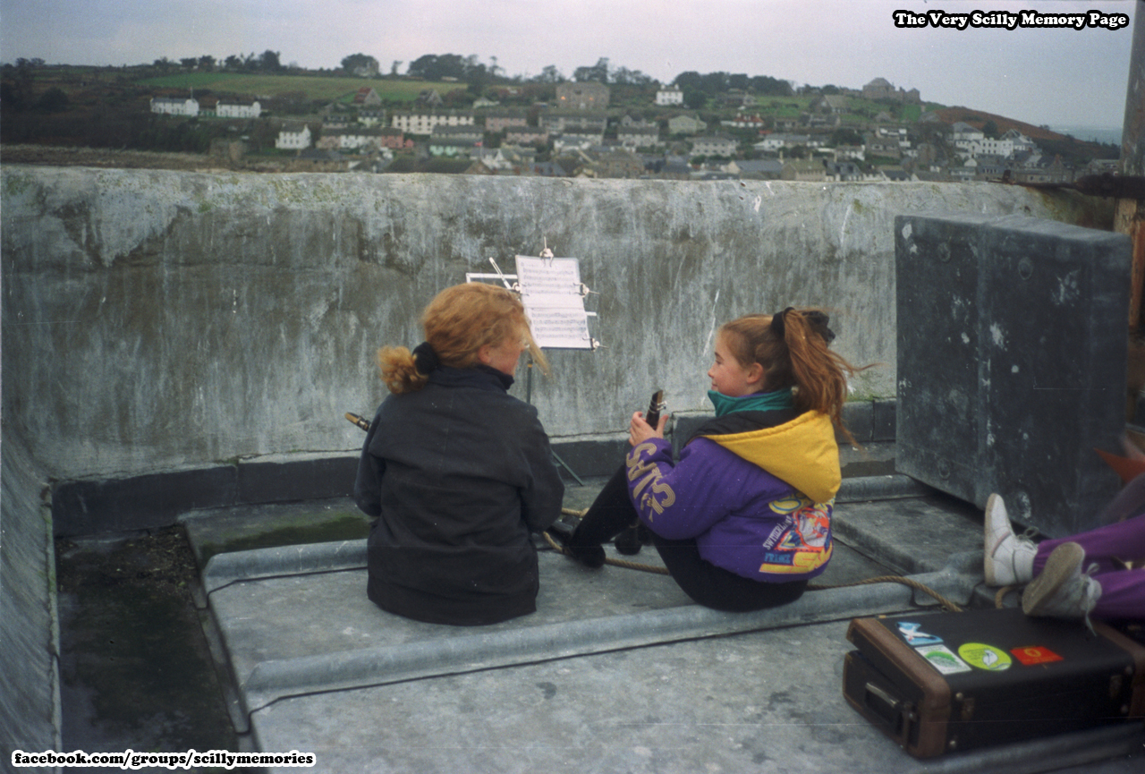 1991, On Top Of Church, St Mary's.