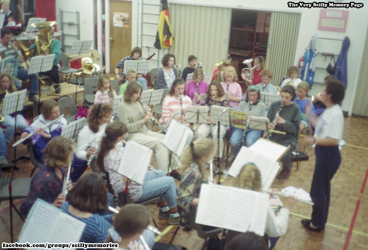 1991, Triggshire Wind Band, Carn Gwarvel, St Mary's