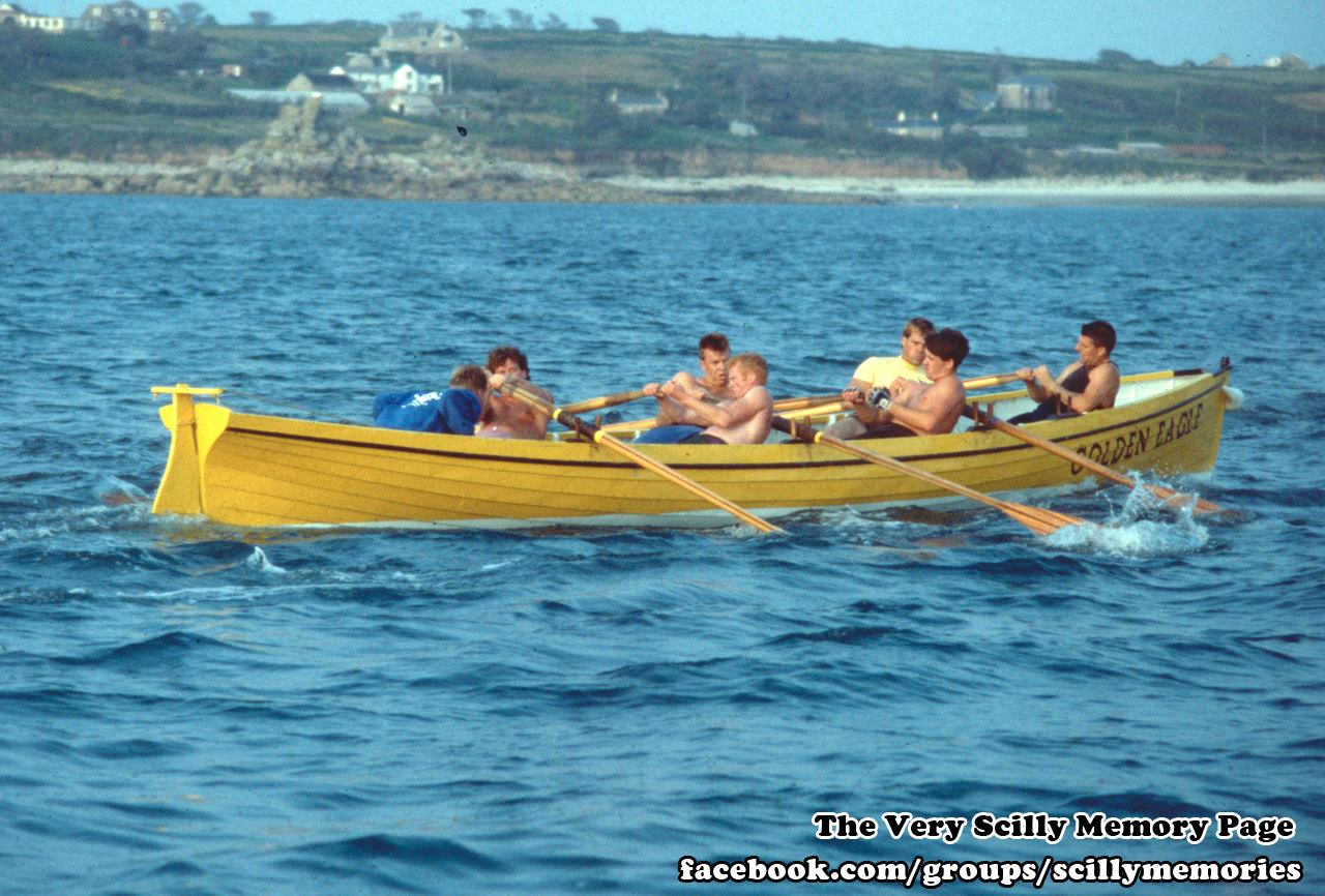 1992, Gig Race, Golden Eagle, Scilly, Historical Picture, Photograph