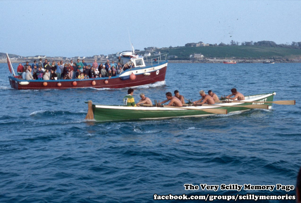 1992, Gig Race, Surprise, Bonnet, Scilly, Historical Picture, Photograph