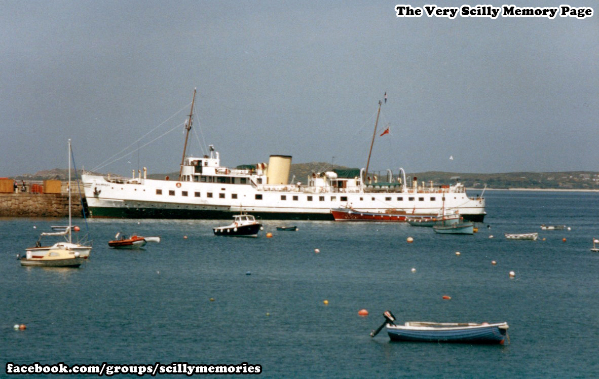 1992, MV Balmoral, Visiting Scilly, St Mary's Historical Photo, Picture