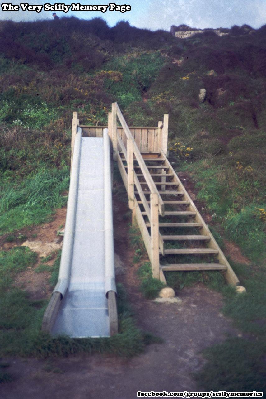 1992, Porthcressa Playpark Slide, St Mary's.