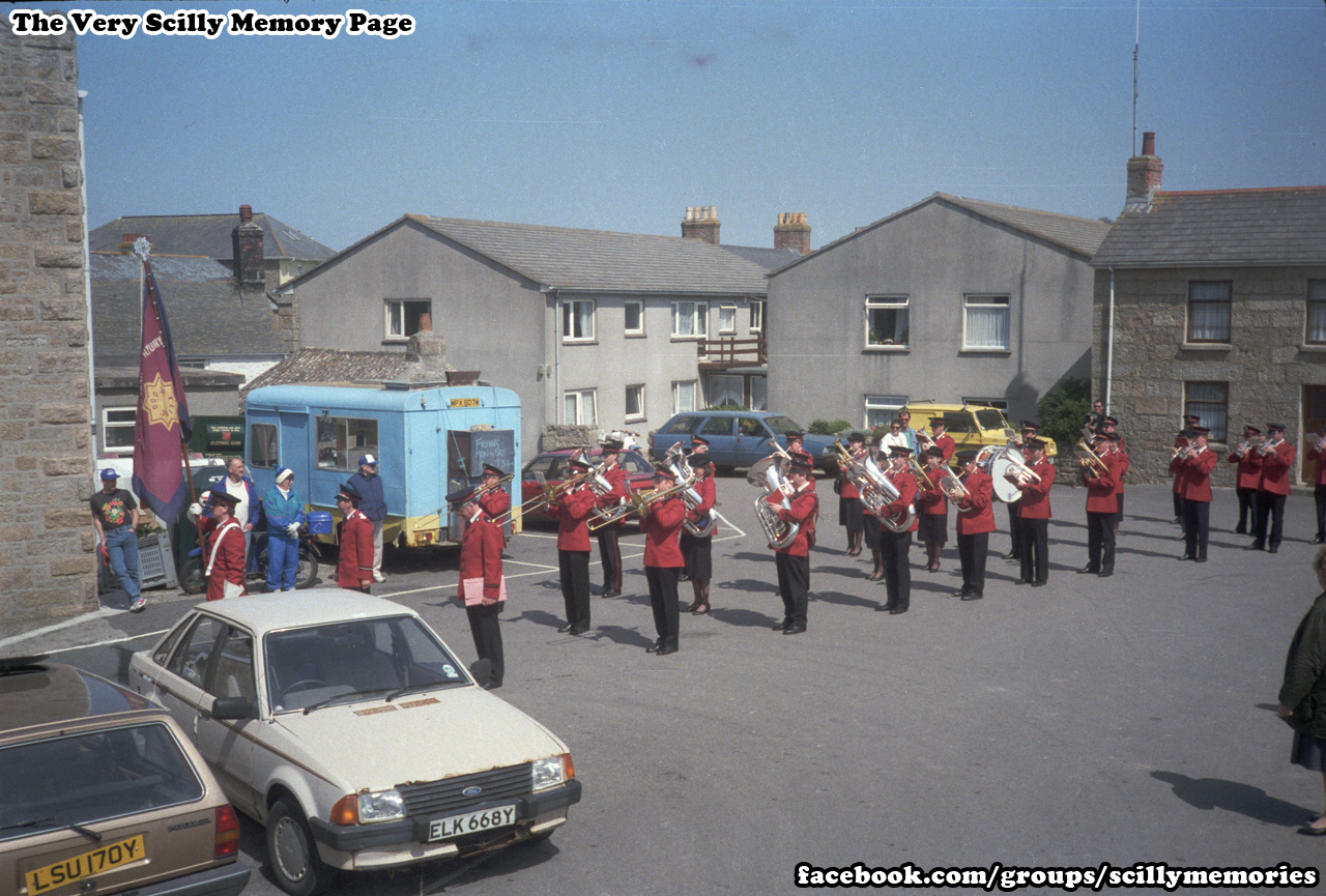 1993, Salvation Army Visit Scilly