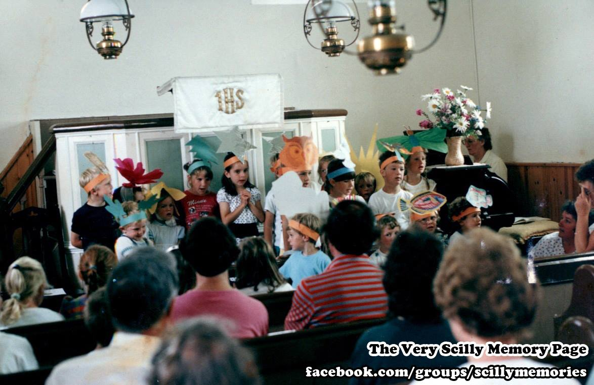 1993, harvest festival church trip, St Martins