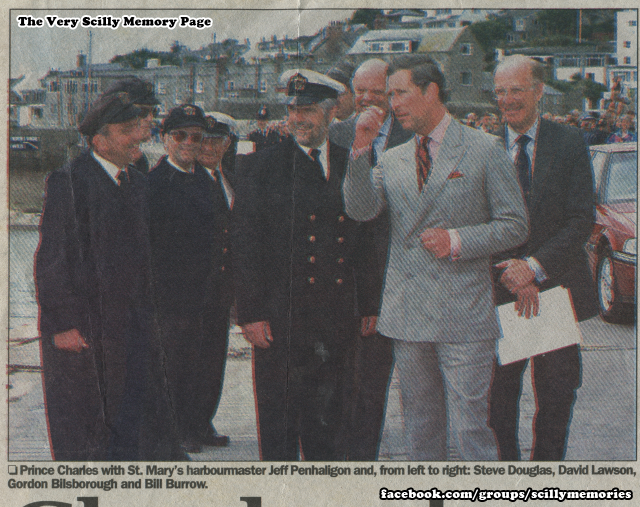 1996, July, Prince Charles meets new harbour master, St Mary's