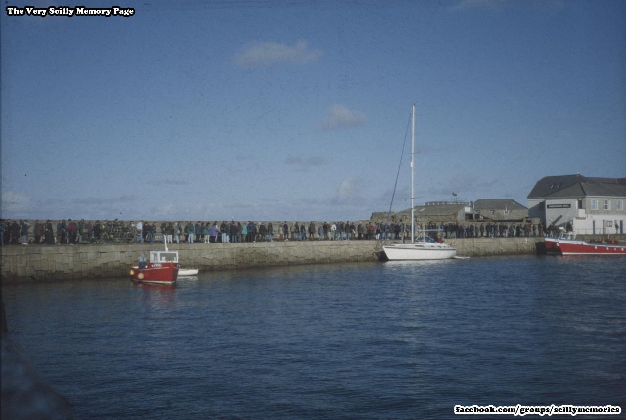 1999, Birdwatchers, Twitchers, Quay, St Mary's