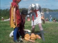 The Jester, Doctor, Turkish Knight and St George, St Agnes Mayday, 1993.