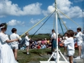Dancing The Maypole, St Agnes Mayday, 1993.