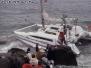 1994, 9th August, Catamaran (Chamel E II) in trouble, Porthcressa.