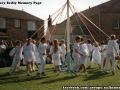 Dancing the Maypole at St Mary's Mayday celebration. 1994