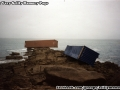 Two the containers landed at Porth Wreck