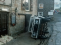 1998, Police Scilly Van Tipped Over Mermaid Quay, Historical Photo Storm Damage 2
