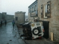 1998, Police Scilly Van Tipped Over Mermaid Quay, Historical Photo Storm Damage