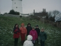 Snow 2001, St Agnes Lighthouse and Pupils